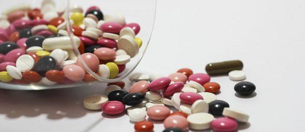 Duża ilość leków i tabletek