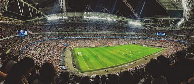 mecz na stadionie