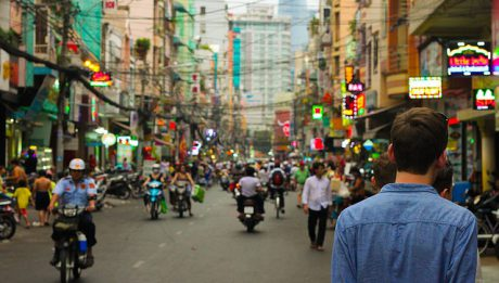 Chiny - tłum na ulicy