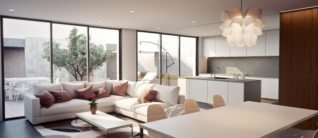 salon nowoczesny w mieszkaniu