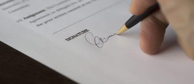 Składanie podpisu na wekslu