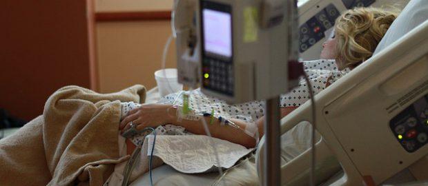 Pacjentka w szpitalu