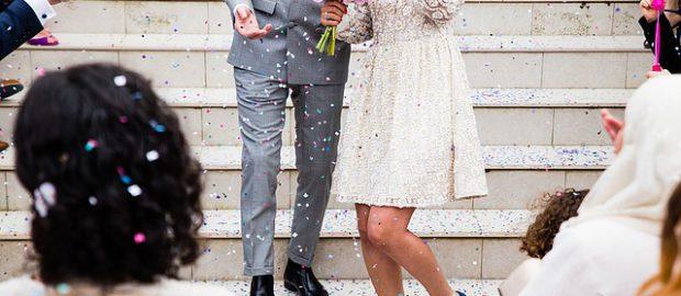 Młoda para po ślubie
