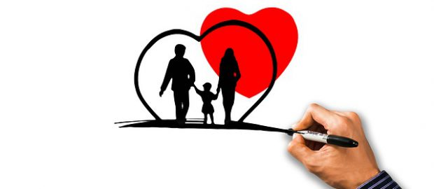 Rysunek, rodzina pod ochroną