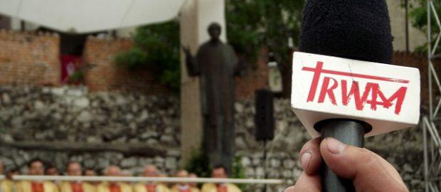Mikrofon z logiem telewizji Trwam