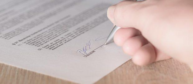 Podpisywana umowa