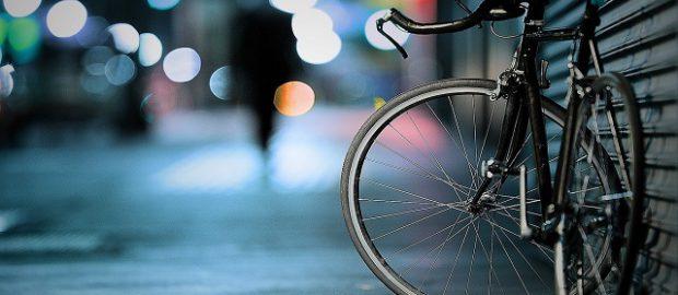 Stojący przy ścianie rower