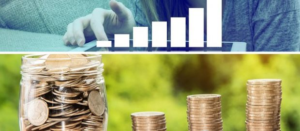 Kobieta i rosnąca inwestycja