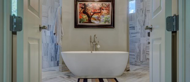 Jasna aranżacja łazienki