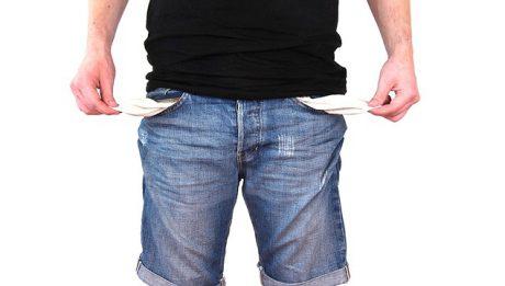 brak pieniędzy