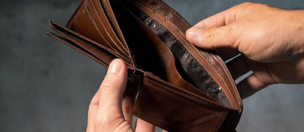 Brązowy pusty portfel