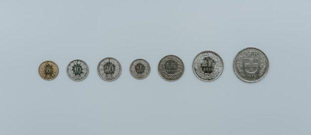 monety franka szwajcarskiego